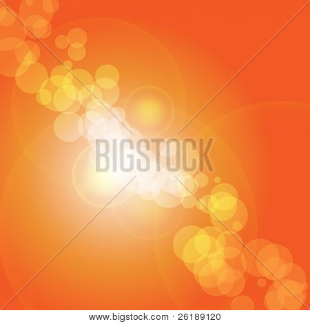 Vector abstract background orange and fresh bokeh