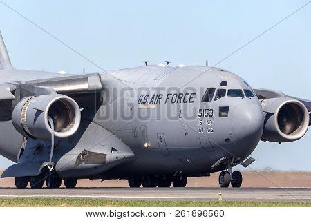 Avalon, Australia - February 25, 2013: United States Air Force (usaf) Boeing C-17a Globemaster Iii M