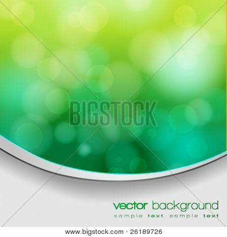 EPS 10 Green bokeh abstract light background with frame and shadow - Vector illustration