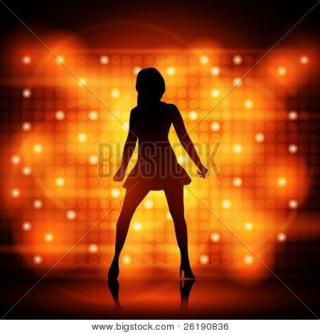 Party Girl Dancer - Colorful EPS10 Design - Dancing Young Sexy Women