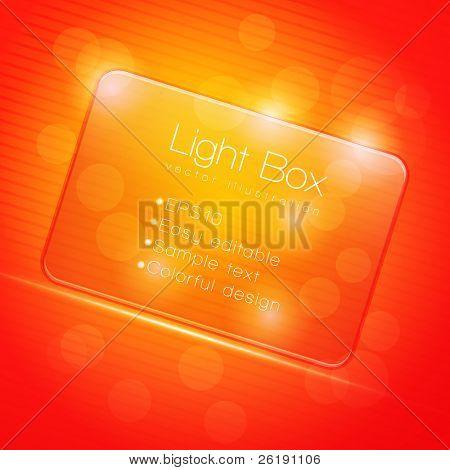 EPS10 Colorful Glass Transparent Web Box - Vector Illustration