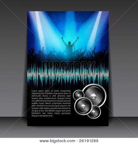 Colorful EPS10 Flyer Design – Sensation Party - Vector Background