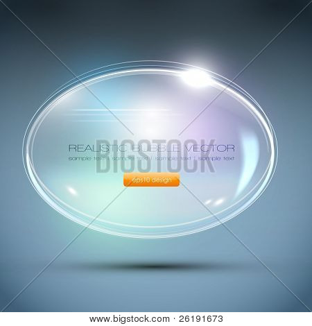 Abstract Background - Glass Ball - Vector Speech Bubble