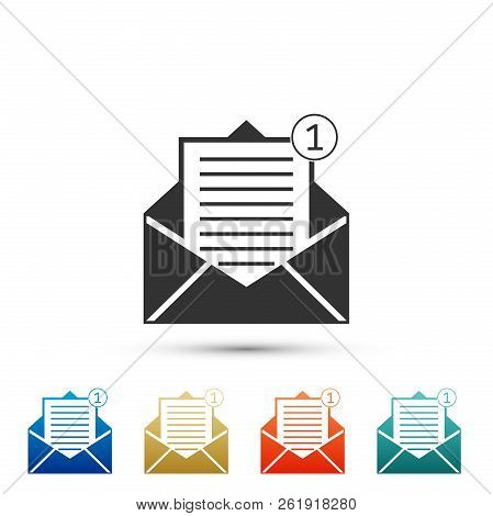 Received Message Concept. Envelope Icon Isolated On White Background. New, Email Incoming Message, S