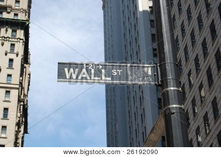 wall street sign; manhattan, new york city (near stock exchange)