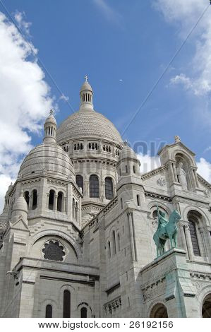 View of Sacred Heart Basilica, Paris