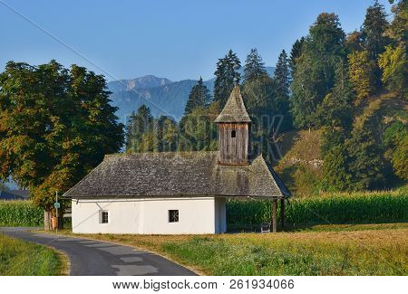 View Of Chapel In Rosegg In Carinthia, Austria