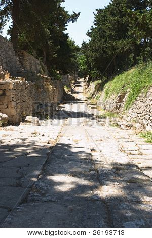 Original Minoan path from Knossos to the Small Palace