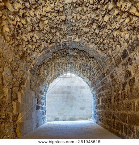 Mamluk Era Arched Stones Tunnel Leading To Al-muayyad Bimaristan (ancient Hospital), Darb El Labbana