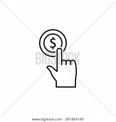 Finance, Money Diversification, Touchpad, Hand, Tap, Money Icon. Element Of Money Diversification Il