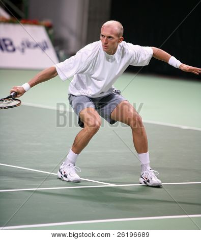 Nikolay Davydenko of Russia during his match against Andy Murray of Britain at the Qatar Open, January, 2007