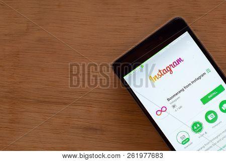 Bekasi, West Java, Indonesia. October 9, 2018 : Instagram Dev App On Smartphone Screen. Instagram Is