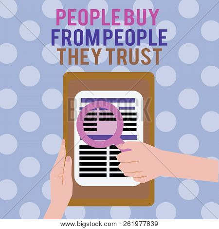 Text Sign Showing Showing Buy From Showing They Trust. Conceptual Photo Building Trust And Customer