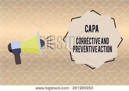 Handwriting Text Writing Capa Corrective And Preventive Action. Concept Meaning Elimination Of Nonco