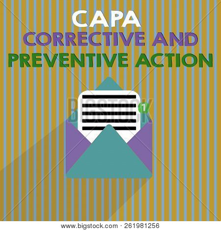 Word Writing Text Capa Corrective And Preventive Action. Business Concept For Elimination Of Nonconf