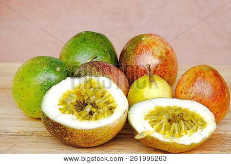 Passion Fruit Organic Fruit Sweet Sour Vitamin C Good For Health.