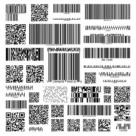 Barcodes Set On Isolated Background For Information, Product Tracking And Marketing, Hyperlinks. Cod