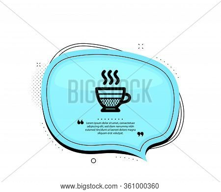 Cafe Creme Icon. Quote Speech Bubble. Hot Drink Sign. Beverage Symbol. Quotation Marks. Classic Cafe