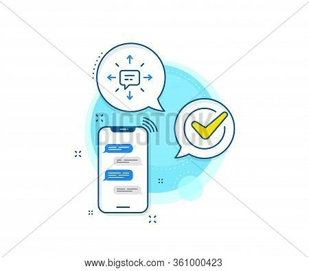 Chat Messages Or Sms Sign. Phone Messages Complex Icon. Conversation Line Icon. Communication Symbol