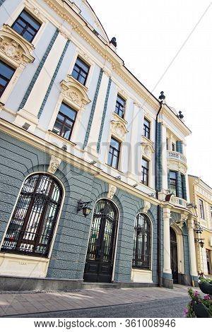 Chernivtsi, Ukraine - August, 2017: The Pedestrian Street Named Olga Kobylianska. The Central Street