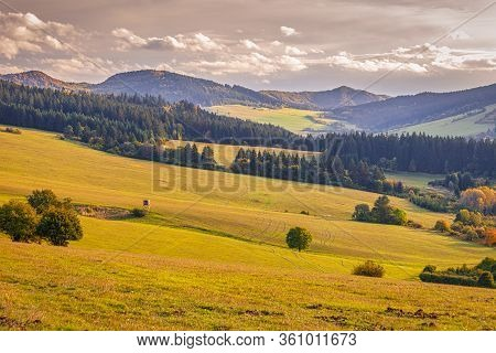 Rural Landscape In Autumn, National Nature Reserve Sulov Rocks, Slovakia.