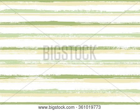 Hand Painted Stripes Clothes Seamless Vector Pattern. Vintage Repeating Lines Background. Grunge Bru