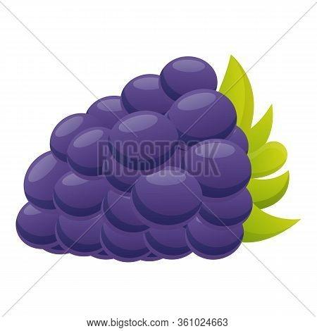 Dessert Blackberry Icon. Cartoon Of Dessert Blackberry Vector Icon For Web Design Isolated On White