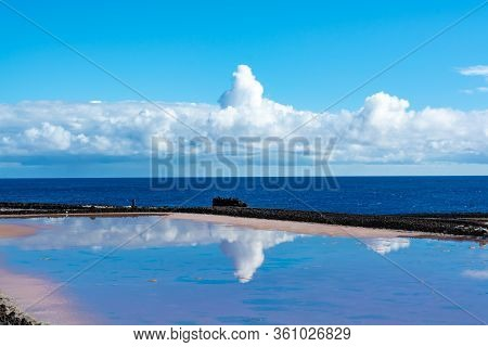 Sea Salt Works On Salinas In Fuencaliente, South Of La Palma Island, Canary, Spain