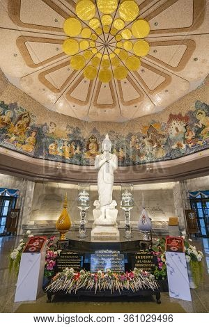 Chiang Mai, Thailand - Decemer 31st, 2019: Inside The King And Queen Pagodas, Doi Inthanon, Thailand