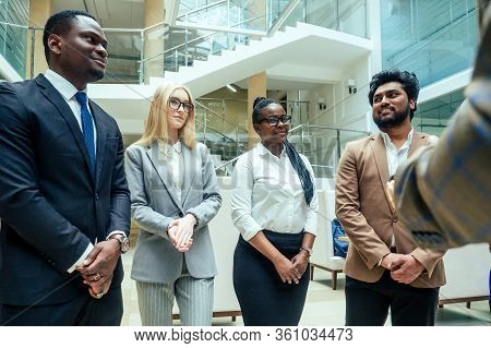 Asian Business Person In Multiracial. Diversity Business People Form By Different Races, Indian, Mal