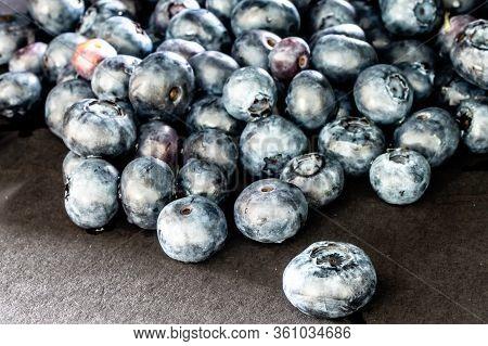 Blueberries In The Black. Calgary, Alberta, Canada