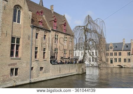 Famous Place At Brugge Canal