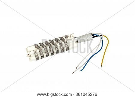 Heating Element For Hot Air Gun Smd Rework Station. Isolated On A White Background.