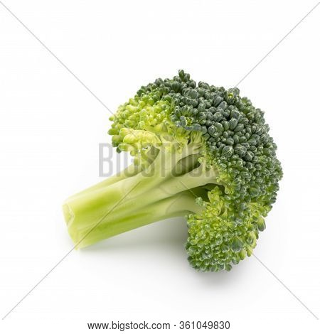 Broccoli Vegetable Isolated On A White Background.