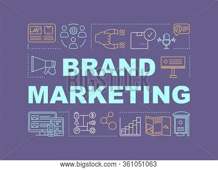 Brand Marketing Word Concepts Banner. Presentation, Website. Communications, Product, Service For Br