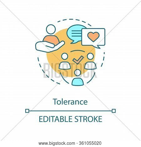 Tolerance Concept Icon. Corporate Social Responsibility. Volunteering And Charity. Empathy Idea Thin