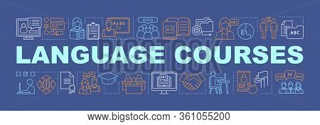 Language Learning For Business Word Concepts Banner. Foreign Language Classes, School, Lessons. Isol