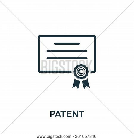 Patent Icon. Simple Element From Intellectual Property Collection. Filled Patent Icon For Templates,