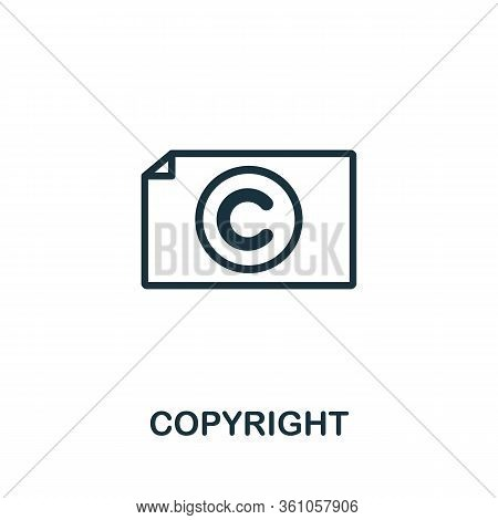 Copyright Icon. Simple Element From Intellectual Property Collection. Filled Copyright Icon For Temp