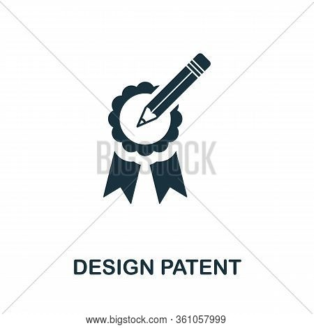 Design Patent Icon. Simple Element From Intellectual Property Collection. Filled Design Patent Icon