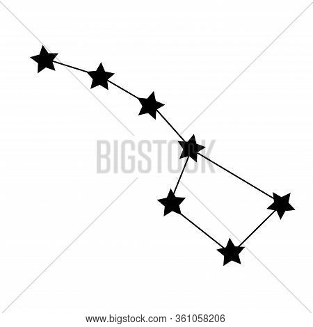 Constellation Ursa Major Big Dipper Icon. Vector Concept Illustration For Design.