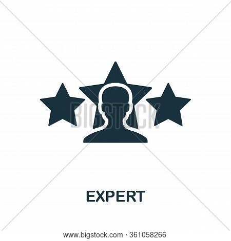 Expert Icon. Simple Element From Consulting Collection. Filled Expert Icon For Templates, Infographi