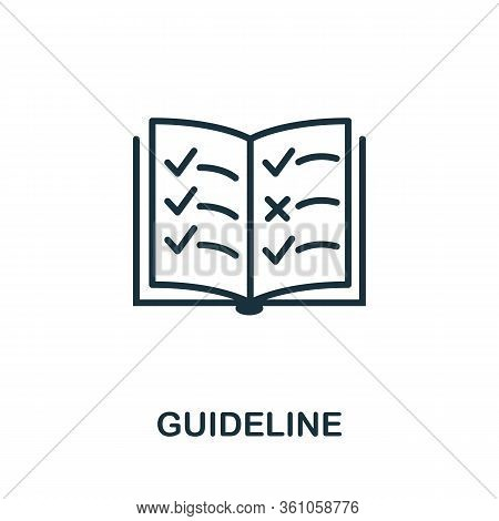 Guideline Icon. Simple Element From Regulation Collection. Filled Guideline Icon For Templates, Info