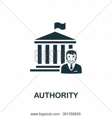 Authority Icon. Simple Element From Regulation Collection. Filled Authority Icon For Templates, Info