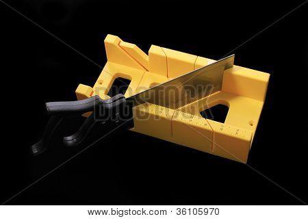 Carpenter's Mirte Box And Saw