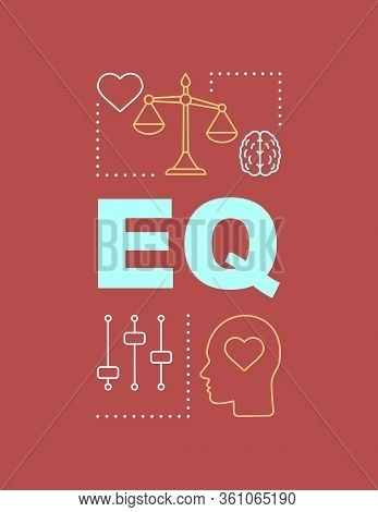 Eq Word Concepts Banner. Emotional Intelligence. Ability To Control Feelings. Presentation, Website.