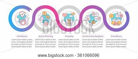 Communication Skills Vector Infographic Template. Personal Qualities. Business Presentation Design E