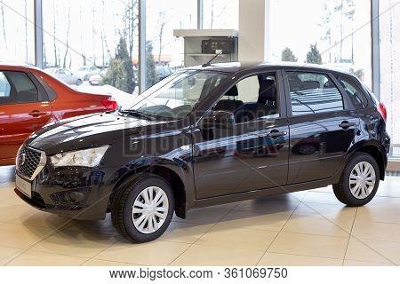 Russia, Izhevsk - March 19, 2020: Datsun Showroom. New Modern Mi-do Car In The Dealer Showroom. Back