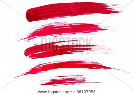 Red paint brush strokes