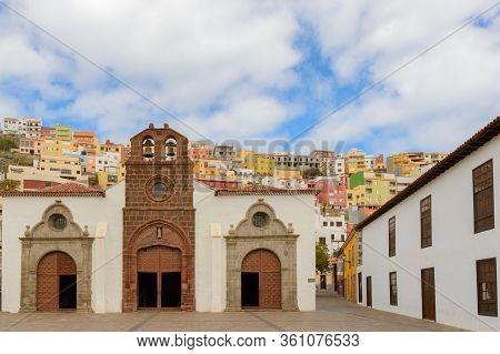 Main Facade Of The Main Church Of The Assumption Dated In The Xv Century In San Sebastian De La Gome